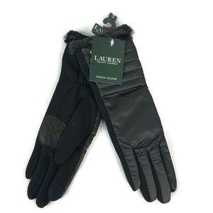 Ralph Lauren Black Winter Touchscreen Gloves